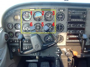 Six Pack - Cessna 172 Instrument Panel - 6 Pack