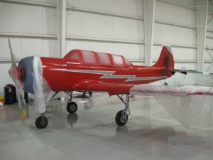 Yak-52 Painted Red for Resident Evil: Afterlife Movie