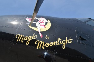 Miss Ellie - Magic by Moonlight Nose Art Younkin Twin Beech