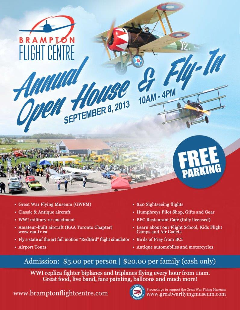 Brampton Flight Centre Open House 2013 - Brampton Airport
